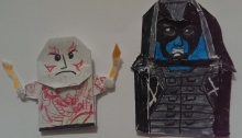 origami image of guardians of the galaxy characters